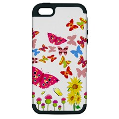 Butterfly Beauty Apple Iphone 5 Hardshell Case (pc+silicone)