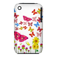Butterfly Beauty Apple iPhone 3G/3GS Hardshell Case (PC+Silicone)