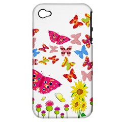 Butterfly Beauty Apple Iphone 4/4s Hardshell Case (pc+silicone)