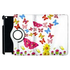 Butterfly Beauty Apple iPad 2 Flip 360 Case