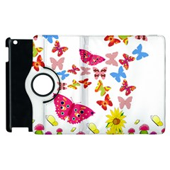 Butterfly Beauty Apple iPad 3/4 Flip 360 Case