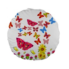 Butterfly Beauty 15  Premium Round Cushion