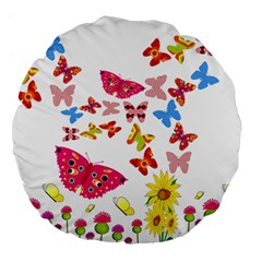 Butterfly Beauty 18  Premium Round Cushion