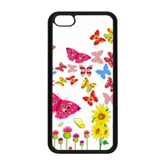 Butterfly Beauty Apple Iphone 5c Seamless Case (black)