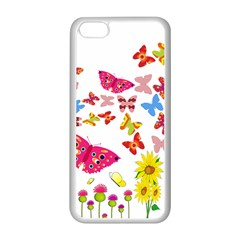 Butterfly Beauty Apple iPhone 5C Seamless Case (White)