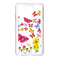 Butterfly Beauty Samsung Galaxy Note 3 N9005 Case (white)