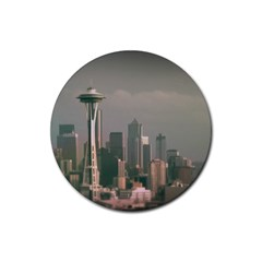 Grey Seattle Focus Shift Drink Coasters 4 Pack (Round)