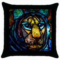 Curty Black Throw Pillow Case