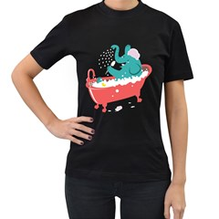 Rub A Dub Fun Women s T Shirt (black)