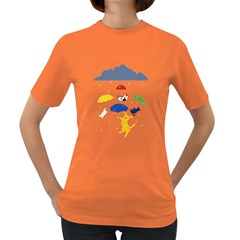 Raining Cats and Dogs Women s T-shirt (Colored)