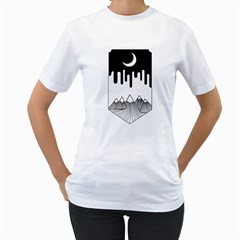 Night Melting Women s T-Shirt (White)