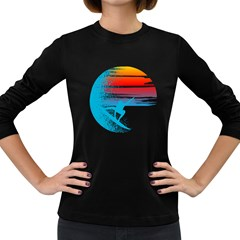 Surf heaven Women s Long Sleeve T-shirt (Dark Colored)