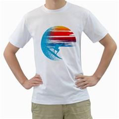 Surf Heaven Men s T Shirt (white)