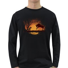 Wrong Path! Men s Long Sleeve T-shirt (Dark Colored)