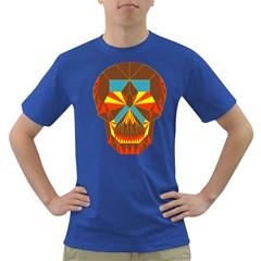 Geometry Skull Men s T Shirt (colored)