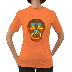 Geometry Skull Women s T Shirt (colored)