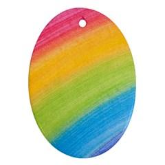 Acrylic Rainbow Oval Ornament