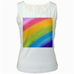 Acrylic Rainbow Women s Tank Top (White)