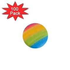 Acrylic Rainbow 1  Mini Button (100 pack)