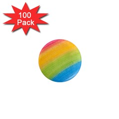 Acrylic Rainbow 1  Mini Button Magnet (100 pack)
