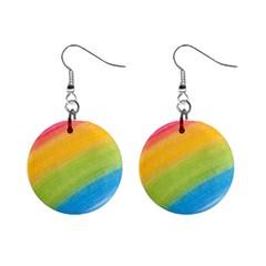 Acrylic Rainbow Mini Button Earrings