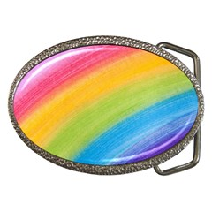 Acrylic Rainbow Belt Buckle (oval)