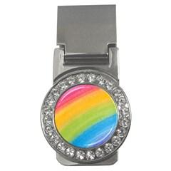 Acrylic Rainbow Money Clip (CZ)