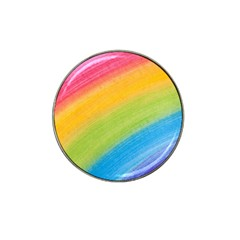 Acrylic Rainbow Golf Ball Marker 4 Pack (for Hat Clip)