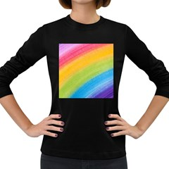 Acrylic Rainbow Women s Long Sleeve T-shirt (Dark Colored)