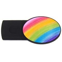 Acrylic Rainbow 4gb Usb Flash Drive (oval)