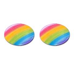 Acrylic Rainbow Cufflinks (Oval)