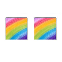 Acrylic Rainbow Cufflinks (Square)