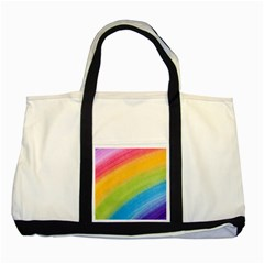 Acrylic Rainbow Two Toned Tote Bag