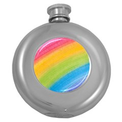 Acrylic Rainbow Hip Flask (Round)