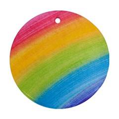 Acrylic Rainbow Round Ornament (two Sides)