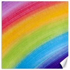 Acrylic Rainbow Canvas 12  X 12  (unframed)
