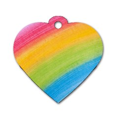 Acrylic Rainbow Dog Tag Heart (one Sided)