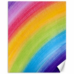 Acrylic Rainbow Canvas 11  X 14  (unframed)