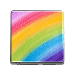 Acrylic Rainbow Memory Card Reader with Storage (Square)