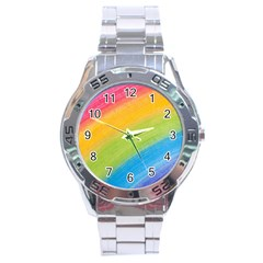 Acrylic Rainbow Stainless Steel Watch