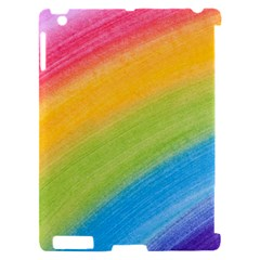 Acrylic Rainbow Apple iPad 2 Hardshell Case (Compatible with Smart Cover)