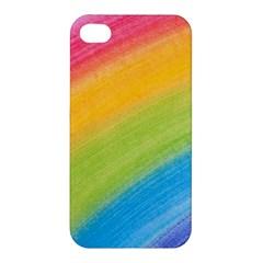 Acrylic Rainbow Apple iPhone 4/4S Premium Hardshell Case