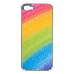 Acrylic Rainbow Apple iPhone 5 Case (Silver)