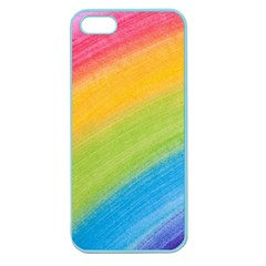 Acrylic Rainbow Apple Seamless iPhone 5 Case (Color)