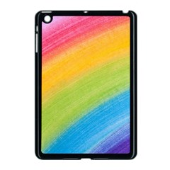 Acrylic Rainbow Apple Ipad Mini Case (black)