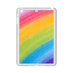 Acrylic Rainbow Apple Ipad Mini 2 Case (white)