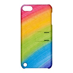 Acrylic Rainbow Apple Ipod Touch 5 Hardshell Case With Stand