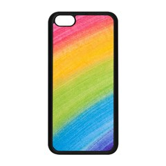 Acrylic Rainbow Apple Iphone 5c Seamless Case (black)