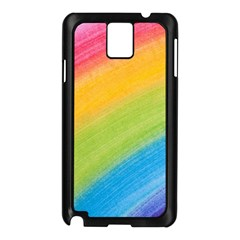 Acrylic Rainbow Samsung Galaxy Note 3 N9005 Case (Black)