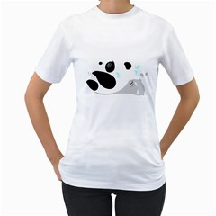 panda WORKOUT ii Women s T-Shirt (White)